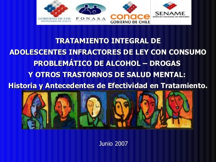 TRATAMIENTO INTEGRAL DE ADOLESCENTES INFRACTORES DE LEY CON CONSUMO PROBLEMÁTICO DE ALCOHOL – DROGAS