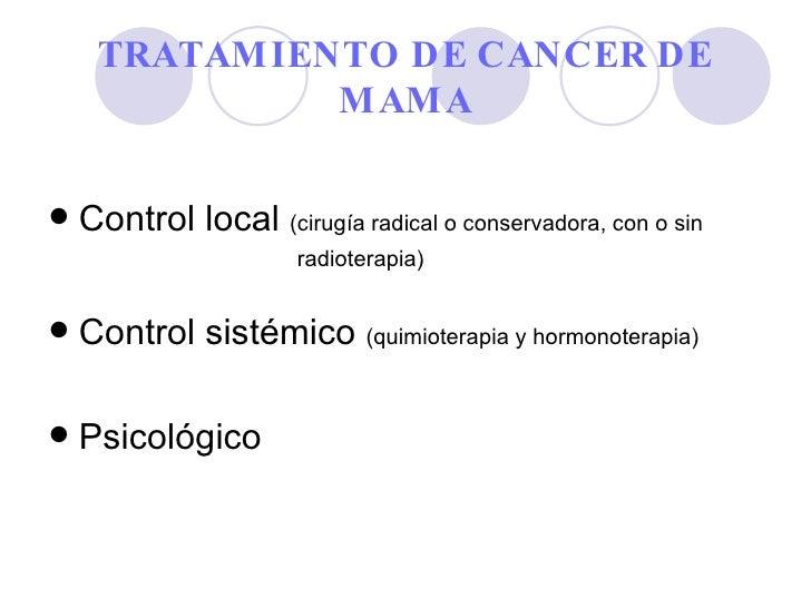 Tratamiento de cancer de mama ok - Tratamiento para carcoma ...