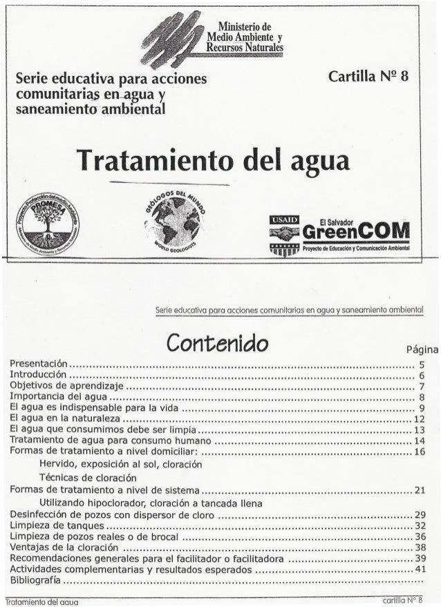 Ministerio de R Me~o_~ N tiien . te y ecursos aturales Serie educativa para acciones comunitari~~en-agua y saneamiento. am...