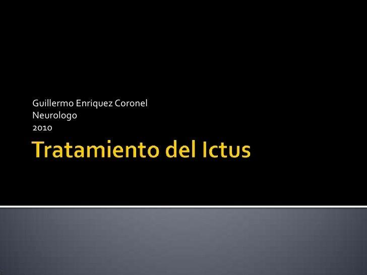 Tratamiento Del Ictus 1