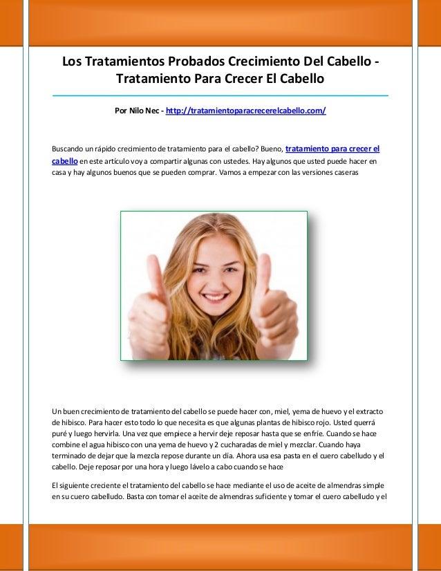 Los Tratamientos Probados Crecimiento Del Cabello -            Tratamiento Para Crecer El Cabello_________________________...