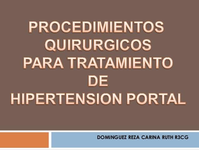 Tratamiento quirurgico de la hipertension portal