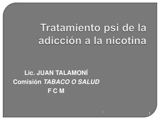 jt 1 Lic. JUAN TALAMONÍ Comisión TABACO O SALUD F C M