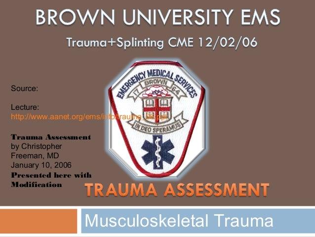 Trauma CME 2006