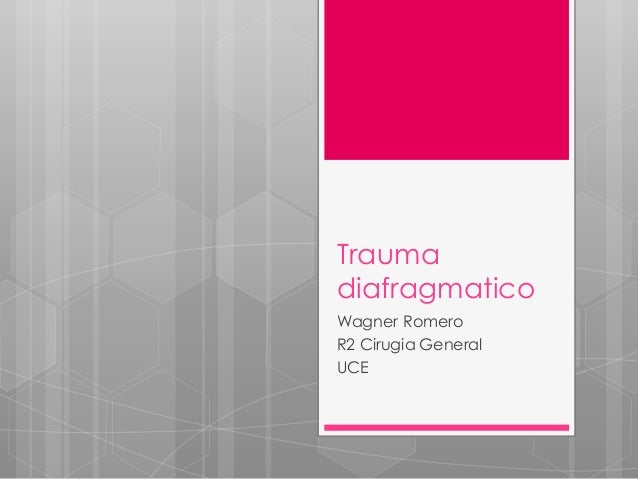 Trauma diafragmatico