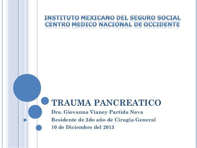 Trauma Pancreático