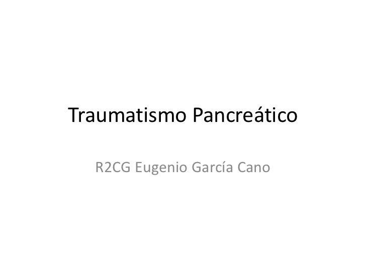 Traumatismo Pancreatico