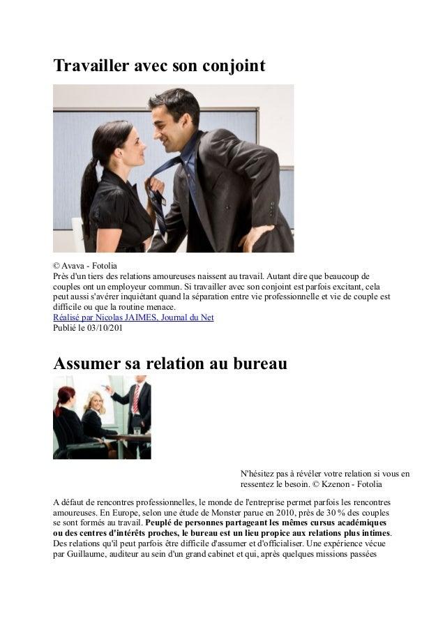 Travailler avec son conjoint© Avava - FotoliaPrès dun tiers des relations amoureuses naissent au travail. Autant dire que ...