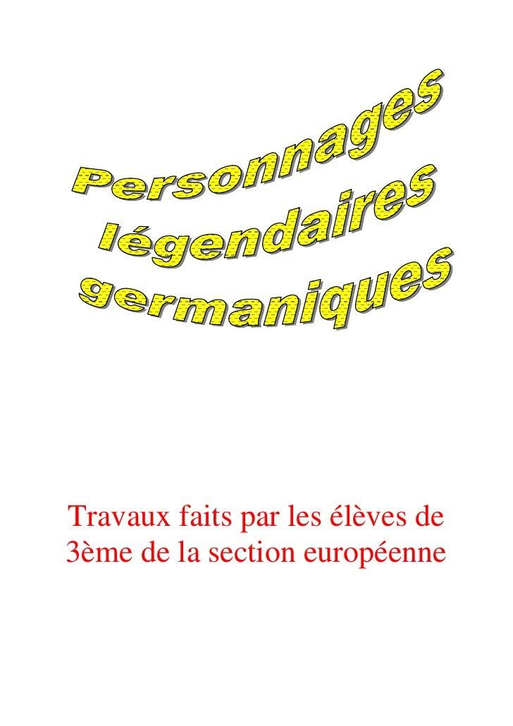 Travaux faits par les élèves de 3ème de la section européenne