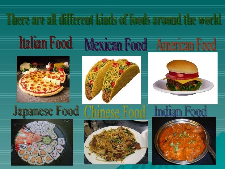 Travel and geography - Different types of cuisines in the world ...