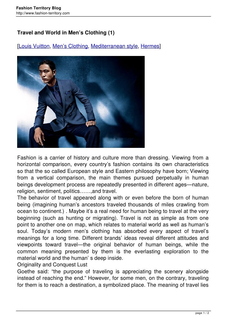 Fashion Territory Bloghttp://www.fashion-territory.comTravel and World in Men's Clothing (1)[Louis Vuitton, Men's Clothing...