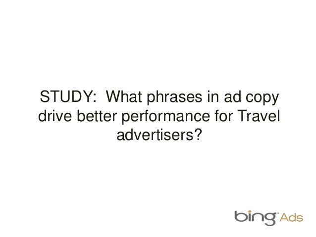 Travel ad copy heatmap
