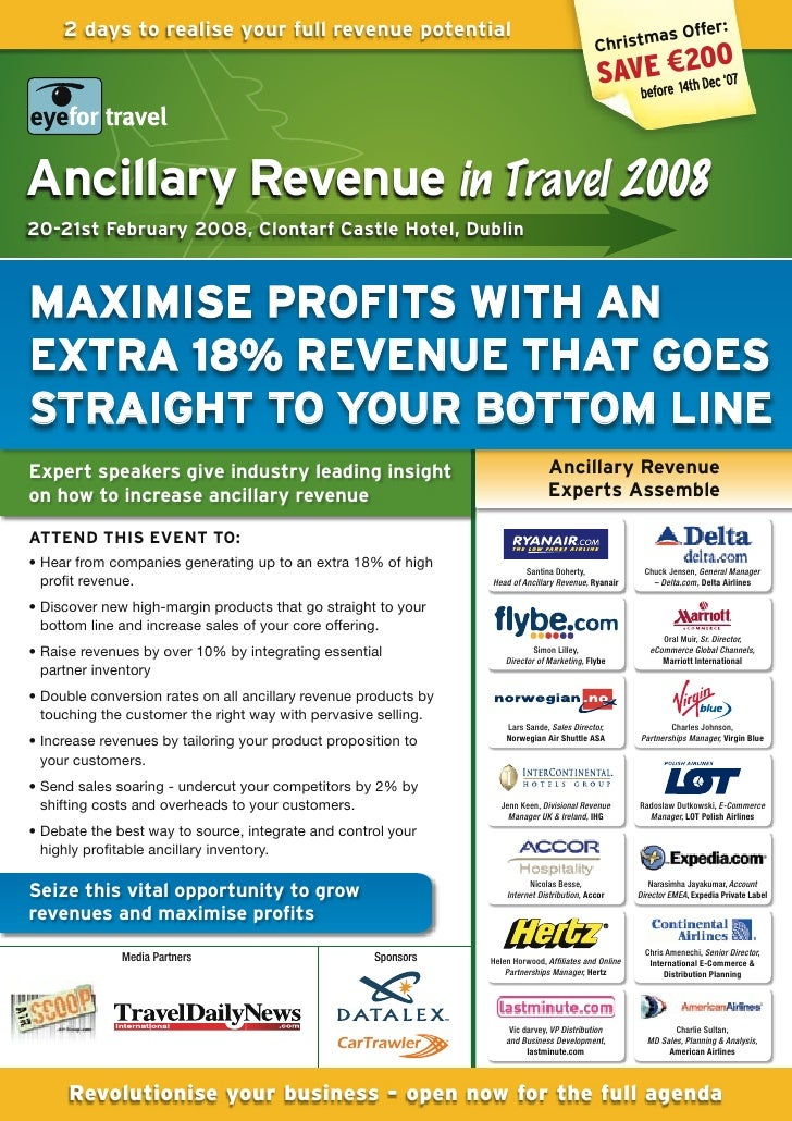 EyeforTravel - Ancillary Revenue in Travel Europe 2008