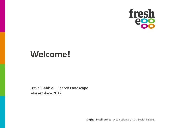 Welcome!Travel Babble – Search LandscapeMarketplace 2012
