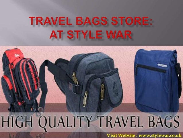 Travel Bags Store (Backpacks/Holdalls/Onboard Luggage) at Stylewar