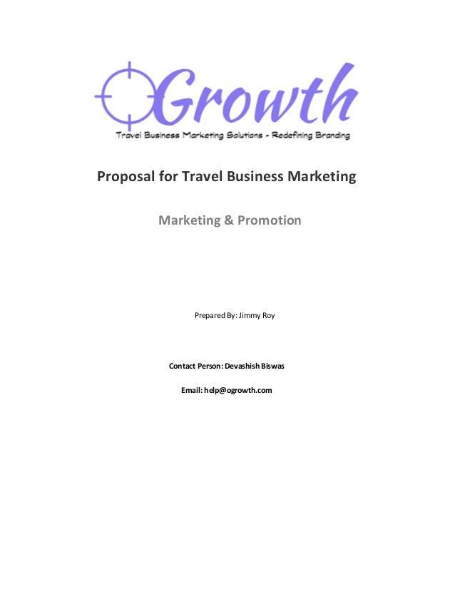 Sample business plan tour operators