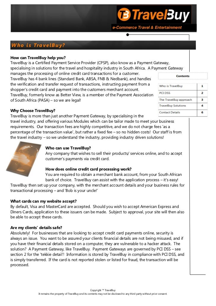 Travel buy overview document