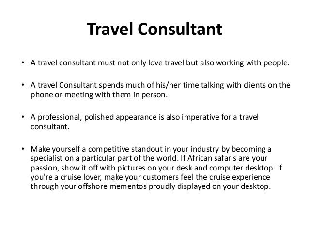 Travel Counsultant Role Amp Sales Process In Retail Travel Industry