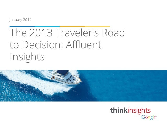 January 2014  The 2013 Traveler's Road to Decision: Affluent Insights  thinkinsights