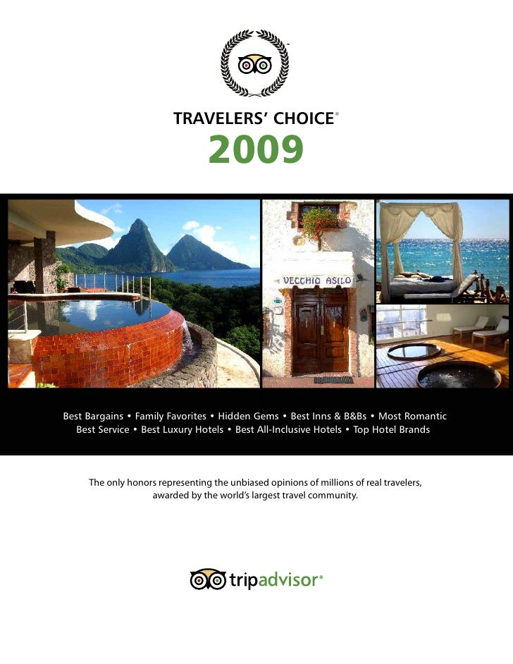 Travelers choice 2009 hotel awards