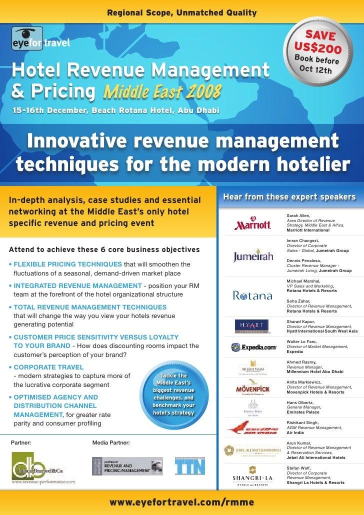 EyeforTravel - Hotel Revenue Management & pricing Middle East 2008