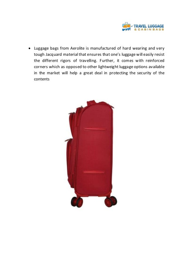 Travel in style and ease with aerolite luggage