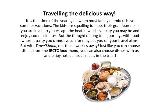 Travelling the delicious way!