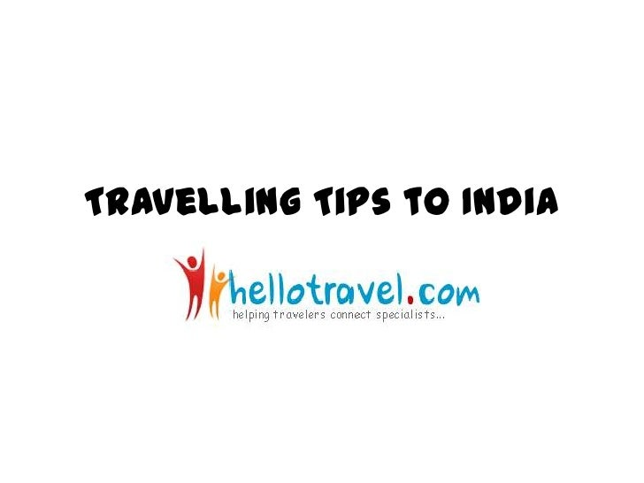 Travelling tips to India
