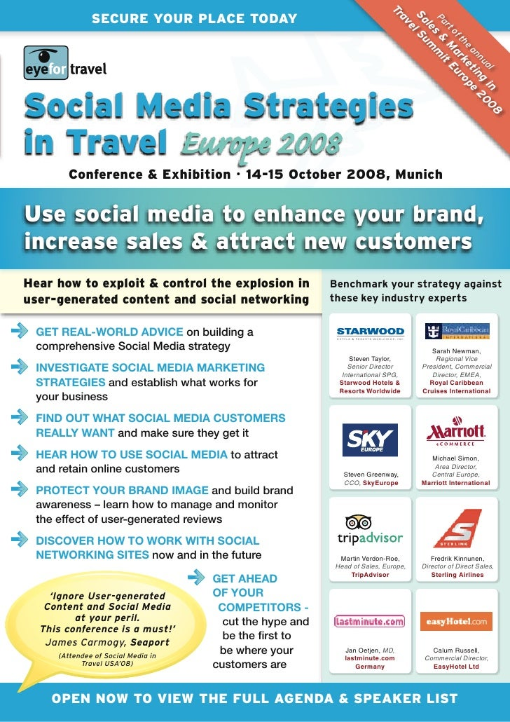 EyeforTravel - Social Media Strategies in Travel 2008