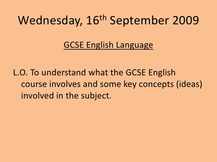 english original writing coursework