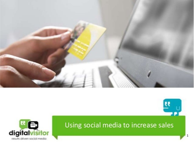 Using social media to increase sales