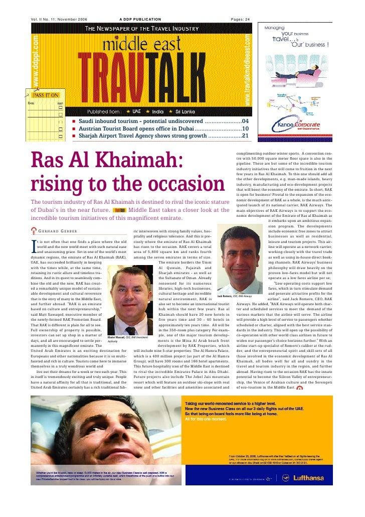 Vol. II No. 11; November 2006                           A DDP PUBLICATION                                                 ...