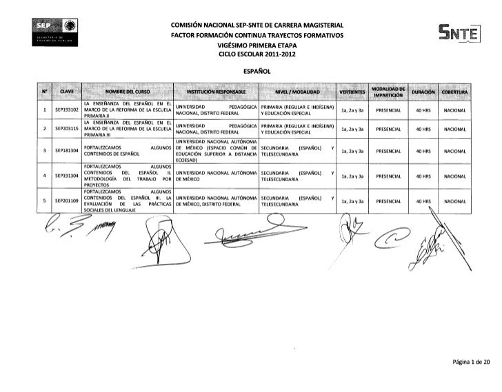 SE                                                         COMISIoN NACIONAL SEP-SNTE DE CARRERA MAGISTERIAL       rnall• ...