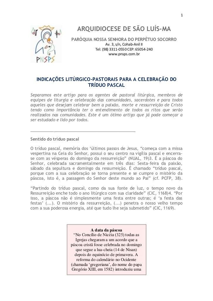1                        ARQUIDIOCESE DE SÃO LUÍS-MA                     PARÓQUIA NOSSA SENHORA DO PERPÉTUO SOCORRO       ...