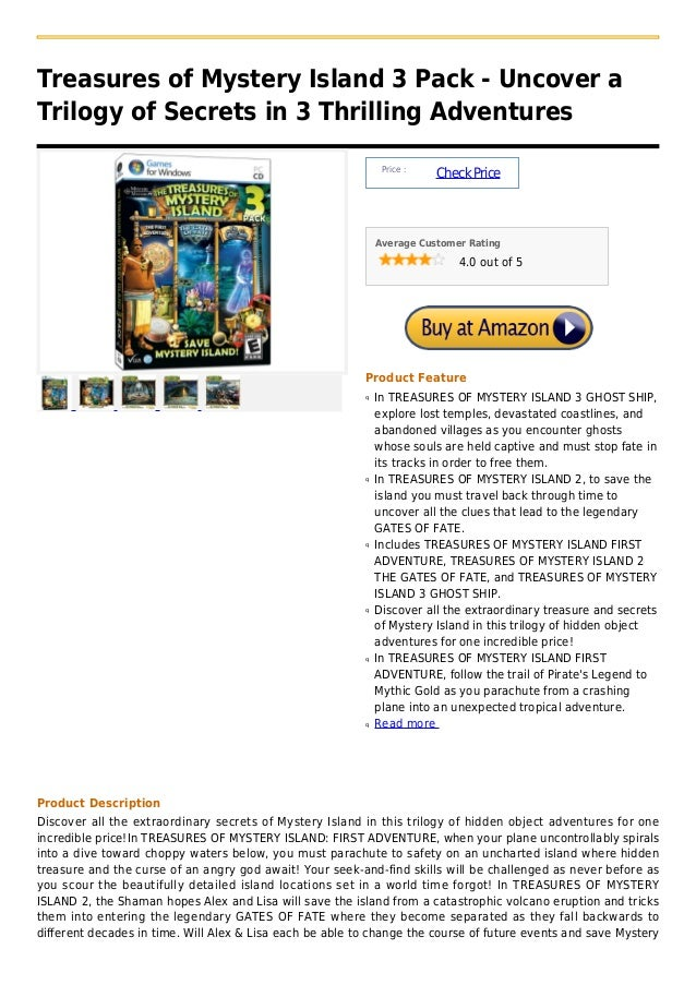 Treasures of mystery island 3 pack   uncover a trilogy of secrets in 3 thrilling adventures