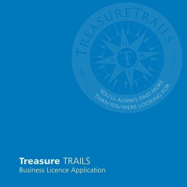 Treasure Trails Licence Brochure