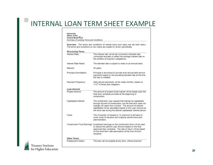 finance and term sheet Bridge financing term sheet, project finance term sheet.