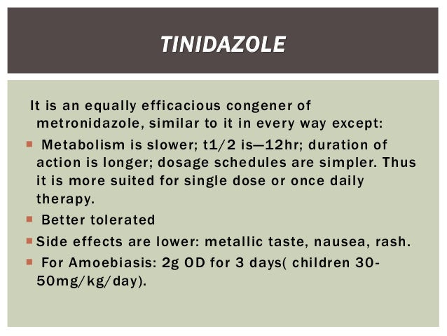 Tindamax Or Flagyl