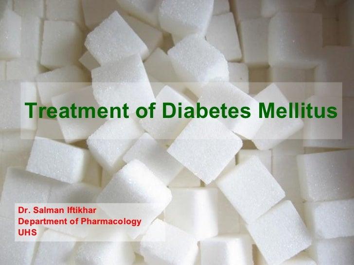 Treatment of diabetes mellitus