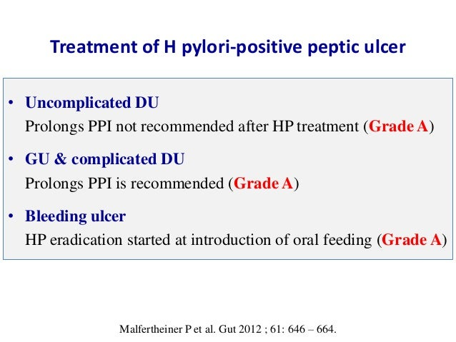Treatment Of Helicobacter Pylori Infection Maastricht Iv