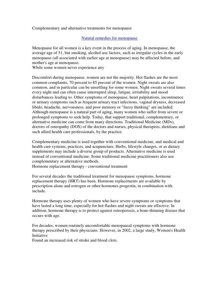 Treatmentsformenopause