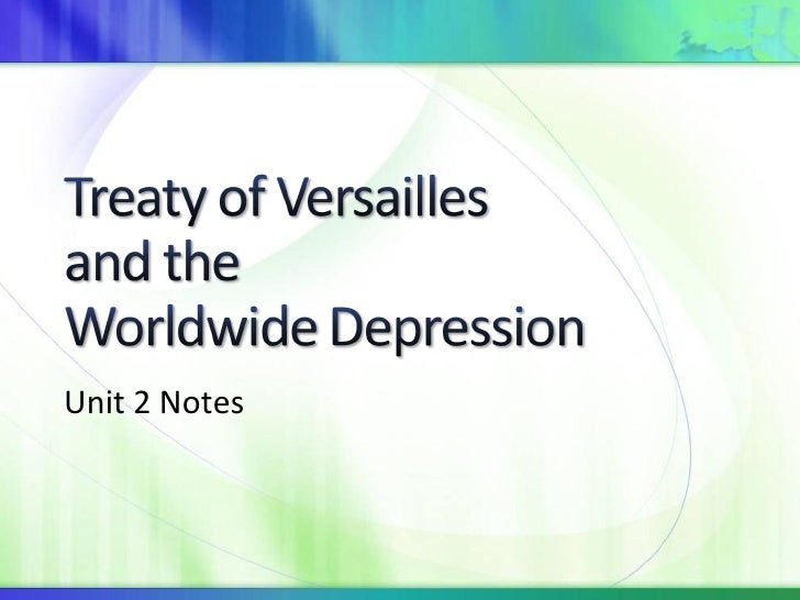 Treaty of Versailles and World Depression