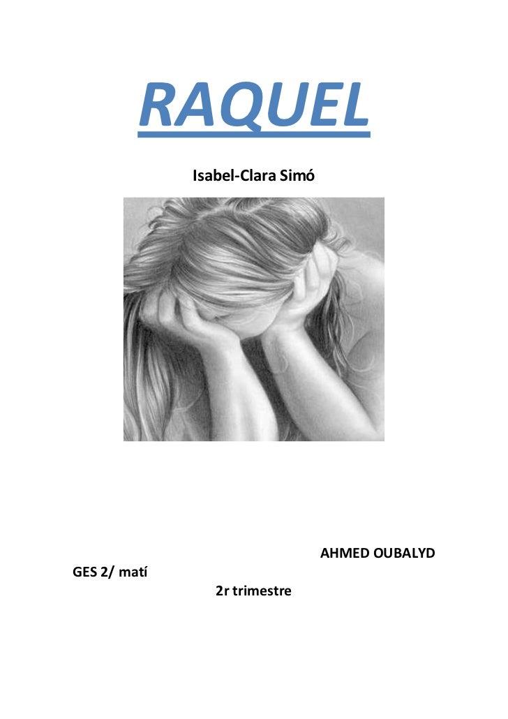 Resum de llibre de la Raquel