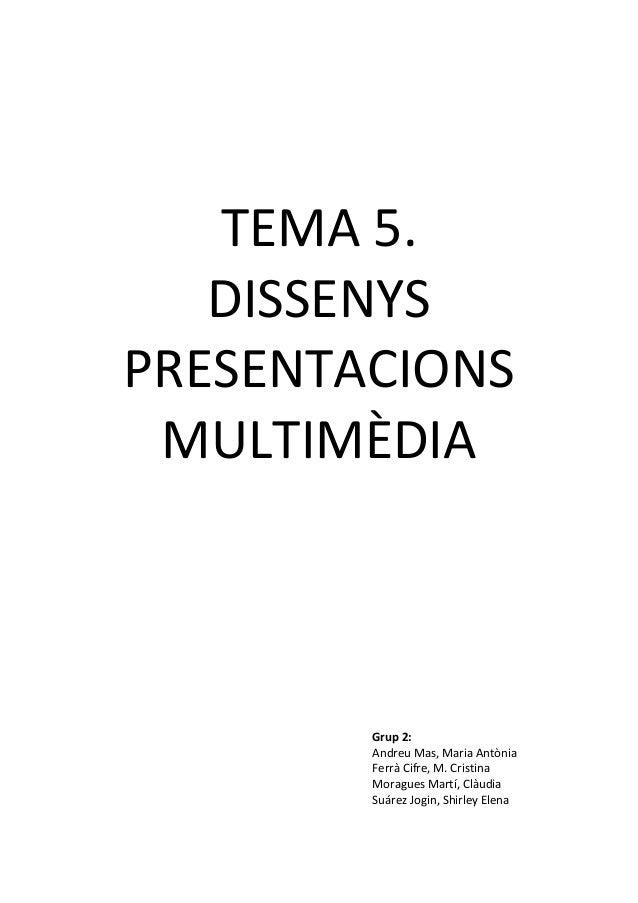 Disseny de presentació multimèdia