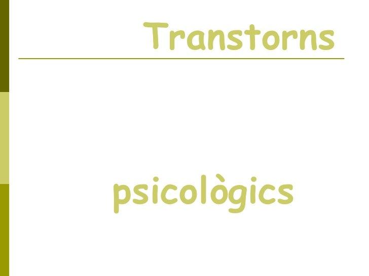 Transtorns psicològics
