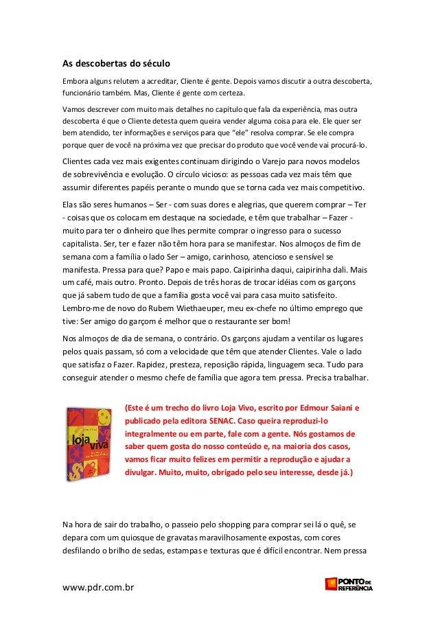 Trecho do livro Loja Viva - Edmour Saiani