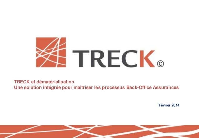 TRECK et dématérialisation Une solution intégrée pour maîtriser les processus Back-Office Assurances Février 2014