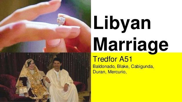 Libyan Marriage Tredfor A51 Baldonado, Blake, Cabigunda, Duran, Mercurio,