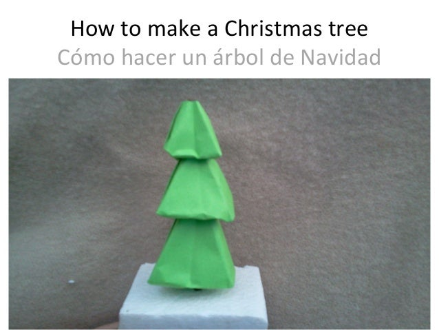 How to make a christmas tree origami como hacer un - Arbol de navidad origami ...