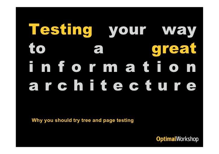 Information architecture testing - OZIA 2008 presentation